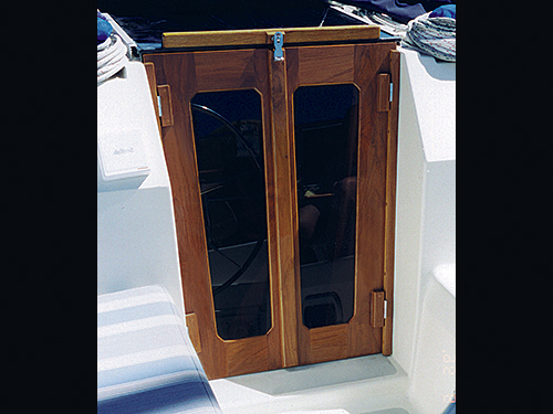 Cruising Concepts can design companionway doors for any model of sailboat.